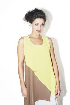 #DIESSE #SpringSummer2016 #dress-Seeveless short dress, round neck, multicolor overlap #model #StellaScorzo #photographer #MariannaDepasquale #designer #DiegoSalerno  http://www.diessefashion.it/