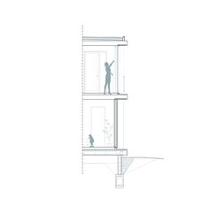 Image 126 of 204 from gallery of 40 Impressive Details Using Concrete. Photograph by © H Arquitectes Wall Section Detail, Detailed Drawings, Contemporary Architecture, Windows And Doors, Sculpture, Gallery, Modern, Construction, Home