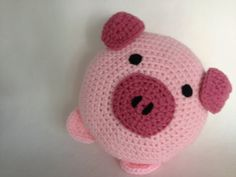 Pig Pillow by peanutbutterdynamite on Etsy Crochet Sock Monkeys, Crochet Pig, Crochet Animals, Crochet Toys, Crochet Socks Pattern, Crochet Dolls Free Patterns, Granny Square Crochet Pattern, Crochet Cushions, Crochet Pillow