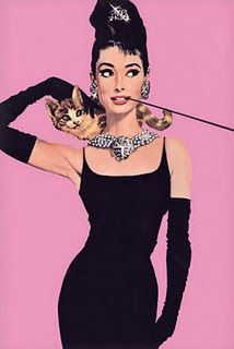 Three of my favorite things: Audrey Hepburn, Breakfast at Tiffany's and cats