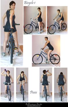 STOCK – Bicycle 1 by LaLunatique See other ideas and pictures from the category menu…. Faneks healthy and active life ideas Action Pose Reference, Human Poses Reference, Pose Reference Photo, Female Reference, Figure Drawing Reference, Body Reference, Action Poses, Art Poses, Drawing Poses