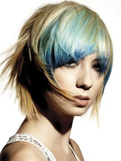 2 tone hair colors for short hair   2012 Punk Hair Color Trend that gives every body bold look