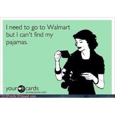 Hahahah! Why Do People Where Big Fuzzy Pajamas To Walmart? it's Trashy..
