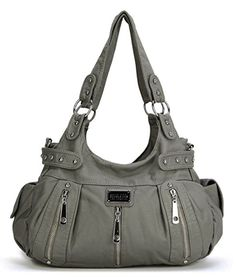 edbc3828fc3a The Scarleton 3 Front Zipper Washed Shoulder Bag is a large stylish purse  at a great price. This chic design has plenty of organized storage