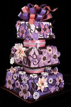 Wild purple cake