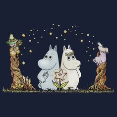 Moomin :) Moomin Tattoo, Illustrations, Illustration Art, Les Moomins, Moomin Valley, Tove Jansson, Fantasy Fiction, Cute Characters, Pretty Pictures