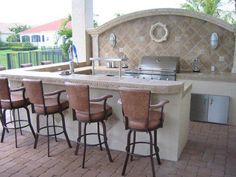When you are designing an outdoor kitchen, the first major decision to make is the type of grill or grills you are going to use. Once the built in grill has been decided and the various accessories chosen, the space a overall shape of the grill... #outdoorkitchengrillspaces