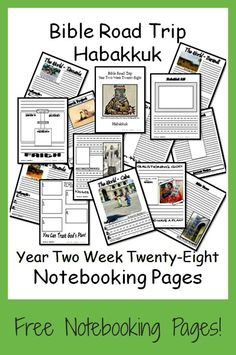 {Free Printable Notebook Pages} Bible Road Trip ~ Year Two Week Twenty-Eight