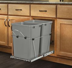 Features:  -Removable handle.  -Includes simple (4) screw.  -Optional lids available.  -Optional door mount kit available.  -100 lbs Rated full-extension ball-bearing slides.  -Lids for the container