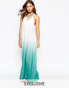 Image 1 ofSpiritual Hippie Halter Ombre Maxi Beach Dress