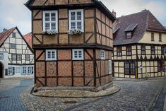 The old medieval town of Quedlinburg, Germany