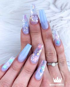 40 Fantastic Designs For Coffin Nails You Must Try Coffin Shape 55 Impressive Matte Coffin N. Acrylic Nail Set, Bling Acrylic Nails, Cute Acrylic Nail Designs, Best Acrylic Nails, Nail Art Designs, Ballerina Acrylic Nails, Nail Designs Bling, Winter Nail Designs, Matte Nails