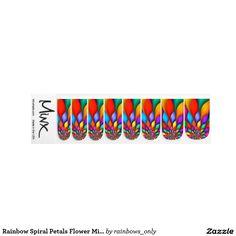 Regenbogen-gewundene Blumenblatt-Blumeminx-Nägel Nageldeko