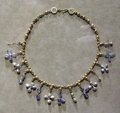Byzantine Necklace with Pendant Crosses in the Metropolitan Museum of Art, 6-7th century