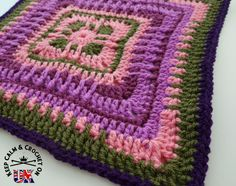 Moroccan Window 12″ Square by Heather C Gibbs KCACO-UK Afghan CAL 2015 -Block 1