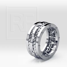 Bond your love with twisted ropes of eternity. SHOP at rfshop.us/2qnDswr Style # WB024-3WW | Made in USA #rockfordcollection #mensfashion #menstyle #mensrings #ring #luxury #weddingring #bridal #wedding