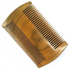 2 Sides DualUse Green Sandalwood Wooden Pocket Hair Comb Men Beard Comb AntiStatic Wide and Fine Tooth -- Check this awesome product by going to the link at the image.
