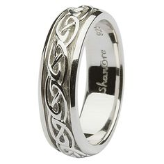 Celtic Wedding Band that my husband bought me for our 25th wedding anniversary - <3