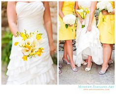 Love the yellow and the calla lillies!