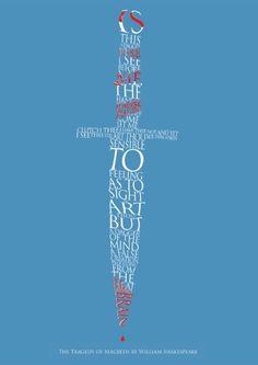 Macbeth Dagger Print | Prints | RSC Shop. Shakespeare quote as a dagger.