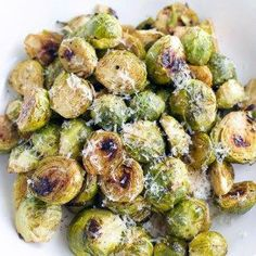 You're going to make this maple dijon roasted brussel sprouts with garlic recipe over and over again. These brussel sprouts are super tender, they're coated in the most flavorful tangy sauce, and they have perfectly crispy edges! Vegan and gluten-free. Freezing Brussel Sprouts, Balsamic Brussel Sprouts, Cooking Brussel Sprouts, Sprouts With Bacon, Roasted Sprouts, Garlic Recipes, Roast Recipes, Sprout Recipes, Vegetable Recipes