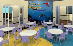 Child Care - rendering - lunch room