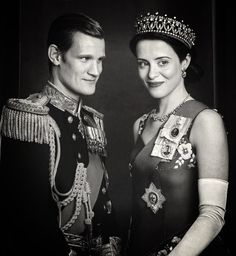 Matt Smith and Claire Foy as Prince Phillip and Queen Elizabeth II in Season 2 of The Crown