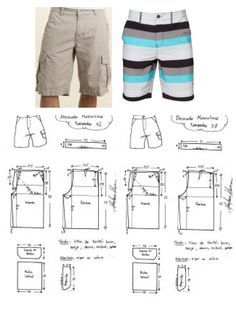 Brilliant Photo of Shorts Sewing Pattern Shorts Sewing Pattern Mens Cargo Shorts Board Shorts . Mens Sewing Patterns, Sewing Men, Pattern Sewing, Fabric Sewing, Baby Sewing, Sewing Shorts, Sewing Clothes, Men Clothes, Skirt Sewing