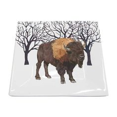 Themes - Holidays & Seasons - Winter – Page 2 – Paperproducts Design Tabletop Accessories, Square Plates, Winter Solstice, Fine Porcelain, Gifts For Him, Moose Art, Illustration Art, Seasons, Buffalo