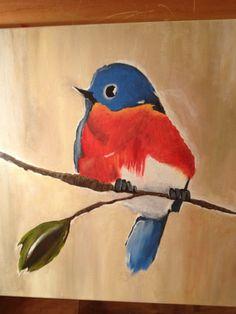 Bird painting for Megan's nursery