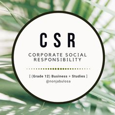 This link will take you to the section on the website   CSR (Corporate Social Responsibility) is a sub-topic of Business Role, one of the four main topics of the FET Phase, Business Studies Curriculum in South Africa. In this category, you will find images that link to all the posts that are related to CSR, Corporate Citizenship, Triple Bottom Line and Sustainability in business. Grade 10 introduces the concept of Corporate Social Responsibility, while Grade 11, Term 3, explores Citizenship. Triple Bottom Line, Exam Papers, Business Studies, Corporate Social Responsibility, Header Image, Information Graphics, Citizenship, Curriculum, Sustainability