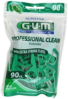 Gum EezThru Flossers Mint 90 count Pack of 3 ** Read more reviews of the product by visiting the link on the image. (Note:Amazon affiliate link)
