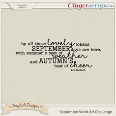 September Word Art Challenge by Ponytails Designs