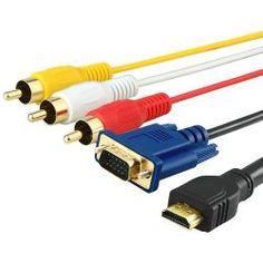 BasAcc 5-foot HDMI to VGA/ 3 RCA Cable