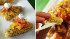 Two fave snack foods-nachos and mozzarella sticks-come together in one crazy plate of food.