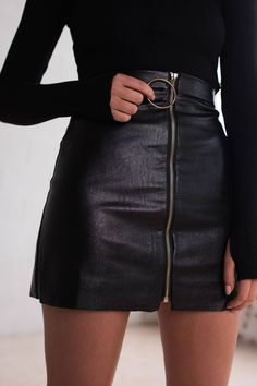 follow me @cushite Stone Fox Skirt | Black - Women's Clothing & Fashion Online – Style Addict