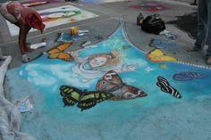 Annual Street Painting Festival in downtown Lake Worth Beach, Florida. Street Painting, Painting, 3d Street Art, Art