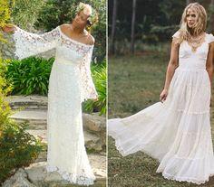 Mostanában+újra+sláger+a+hippi+stílus,+ami+az+esküvői+ruhák+divatjánál+is+érzékelhető.