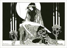 Illustration for Hamlet by JOHN AUSTEN (1886 – 1948)