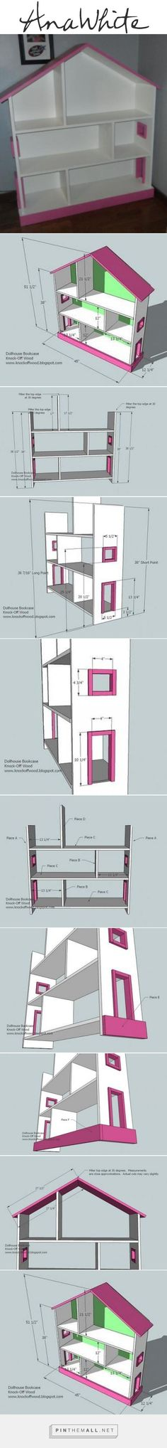 Ana White | Build a Dollhouse Bookcase | Free and Easy DIY Project and Furniture Plans - created via pinthemall.net