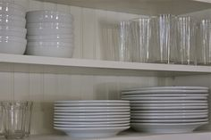 Homestead Revival: Simple & Beautiful Kitchen and Pantry Organization, open cabinets, everyday items out and decorative