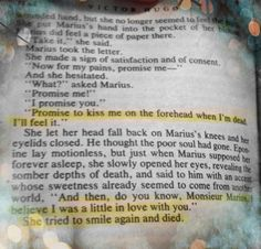 Eponine's death. #crying// I really need to read this book.