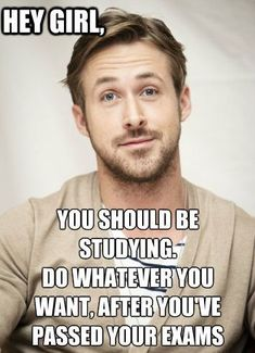Motivation from this beautiful specimen of a human. Ryan gosling, I'll study for you. Finals Motivation, Study Motivation Quotes, Study Quotes, Motivation For Studying, Homework Motivation, Nursing School Motivation, Motivation Tumblr, Life Motivation, Exam Quotes
