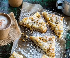 Make the most of feijoa season with this moreish feijoa slice recipe. With a golden base, cinnamon and feijoa filling and coconut crumble topping, this is a sweet treat you've got to try while you can Fejoa Recipes, Fruit Recipes, Baking Recipes, Recipies, Baking Ideas, Guava Recipes, Simple Recipes, Sweet Recipes, Dinner Recipes