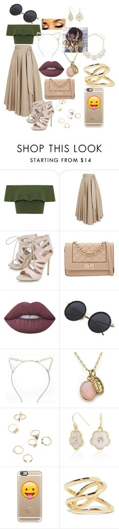 """""""Untitled #250"""" by itz-meh-liz ❤ liked on Polyvore featuring WearAll, TIBI, Carvela, Call it SPRING, Lime Crime, Emi Jewellery, Bling Jewelry, Casetify, Jennifer Fisher and Dorothy Perkins"""