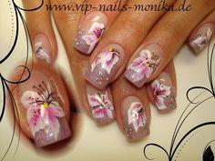 one stroke santa nail art - Google Search