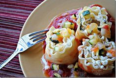 three cheese lasagna roll ups.