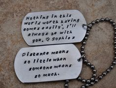2 Hand Stamped Dog Tags  The Man Tag  by CarriesCustomDesigns