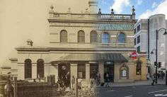 16 ghostly images of London old and new.   Gloucester Road Station 1868 and 2014.