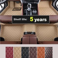 81.60$  Buy now - http://ality4.worldwells.pw/go.php?t=32645839930 - Floor Mats Foot Carpets Car Step Mats For Ford Everest 2015.2016 5 Seats.High Quality Embroidery+Leather+XPE Mats